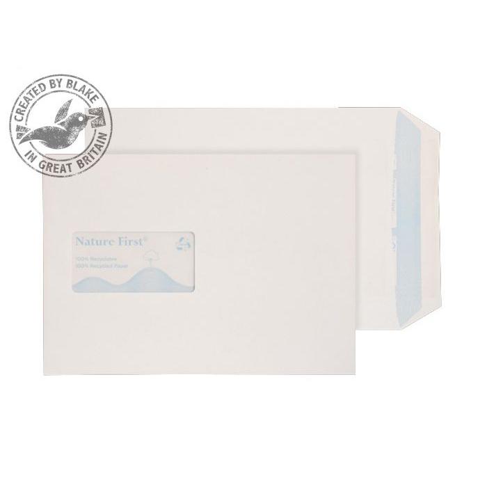 Purely Environmental Pocket Self Seal Wndw White 90gsm C5 Ref RN17084 Pk500 *10 Day Leadtime*