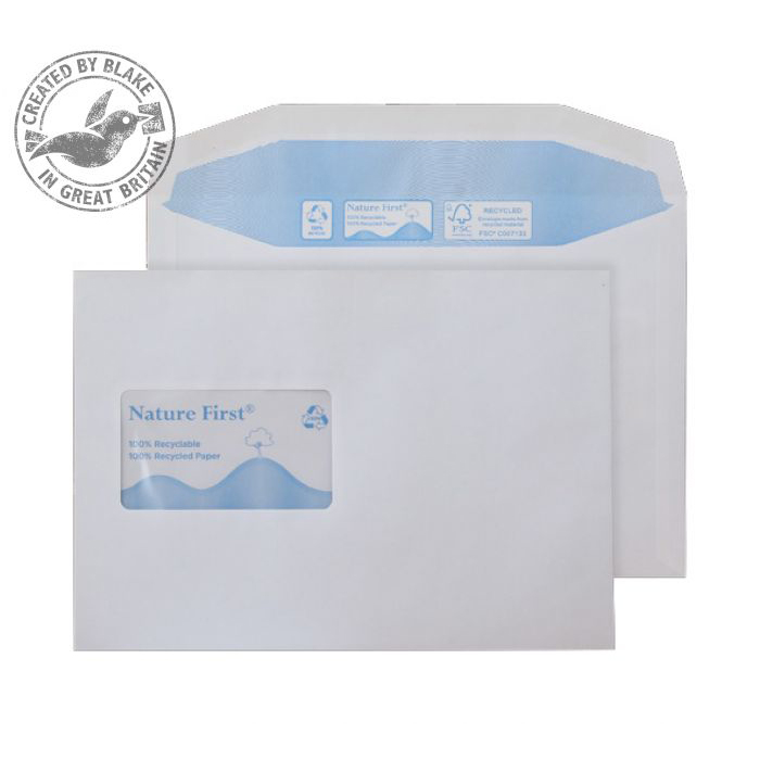 Purely Environmental Mailer Gum CBC Wndw White 90gsm C5 Ref RN027CBC Pk500 10 Day Leadtime