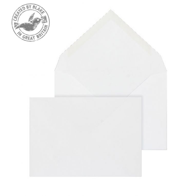 Blake Purely Everyday C6 Banker Invitation Gummed 100gsm White Ref 2002 Pack 1000 *3to5 Day Leadtime*