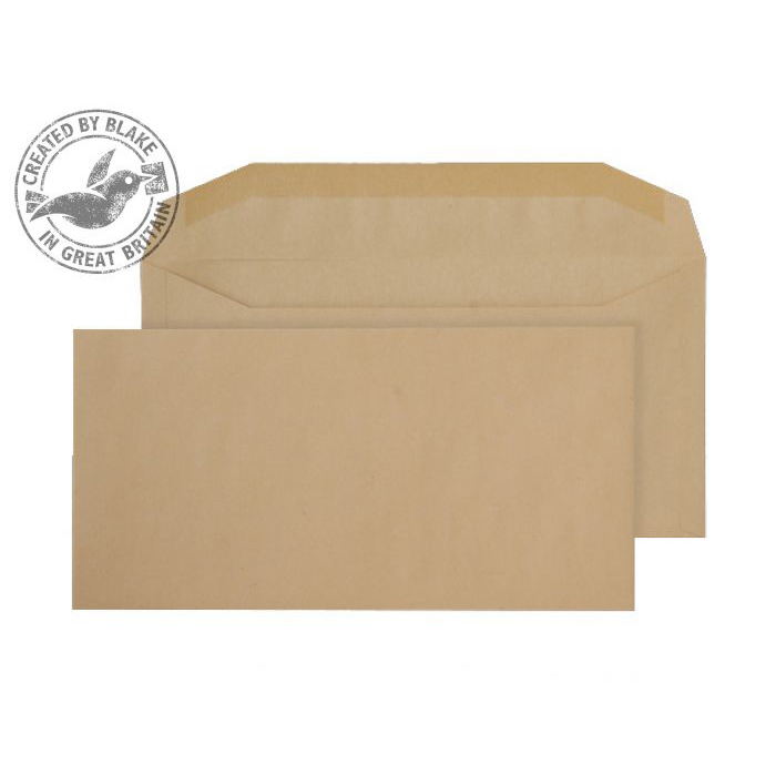 Purely Everyday Mailer Gummed Manilla 80gsm DL+ 114x229mm Ref 2703 [Pack 1000] 10 Day Leadtime