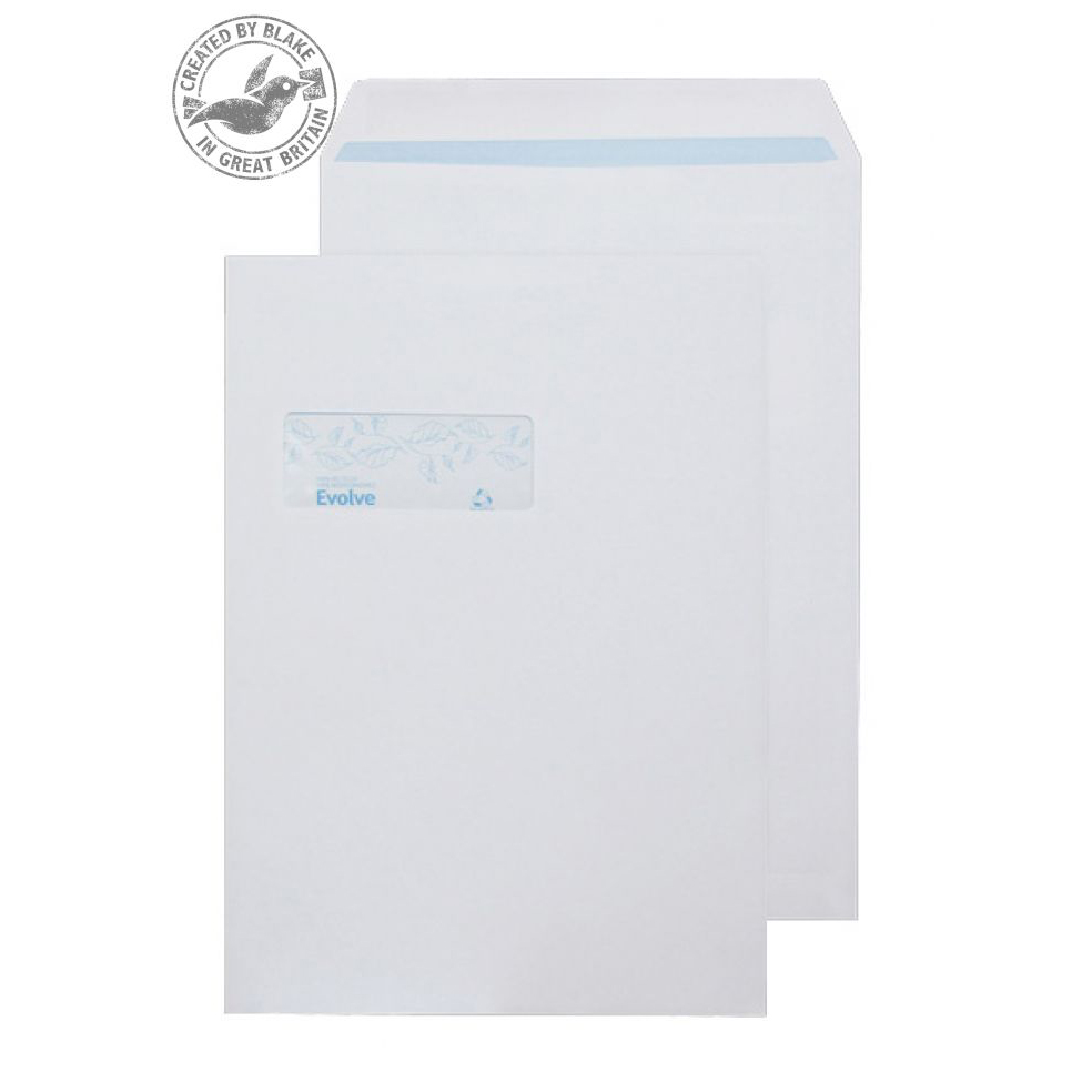 Purely Environmental Pkt Self Seal Wndw 100gsm C4 324x229mm White Ref RD7892 Pk250 *3to5 Day Leadtime*