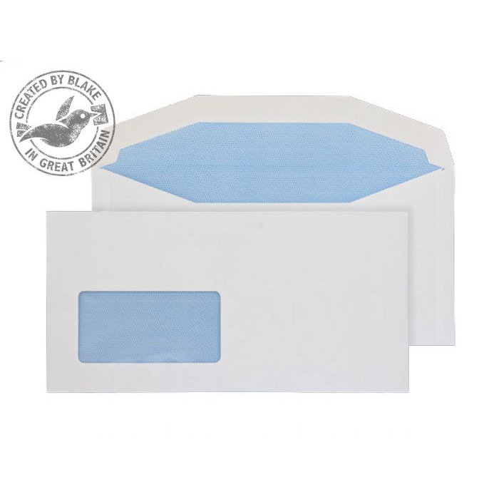Purely Everyday Mailer Gummed Low Window White 90gsm DL+ 114x229 Ref 3704 Pk1000 10 Day Leadtime