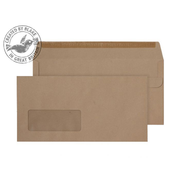 Purely Everyday Manilla Self Seal Wallet Window DL 110x220mm Ref 11884 Pk 1000 10 Day Leadtime