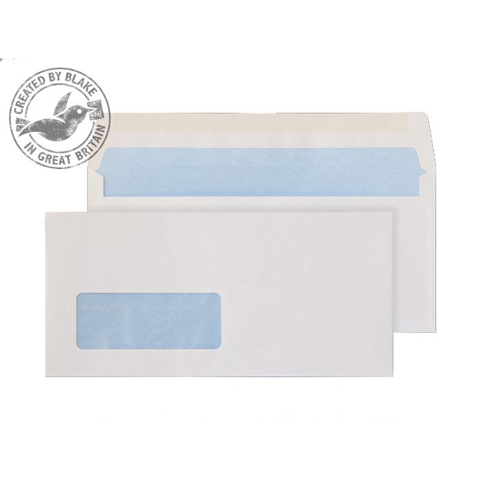 Purely Everyday Wallet Gummed Window 80gsm DL BRE White Ref 2901BRE Pk1000 *3to5 Day Leadtime*