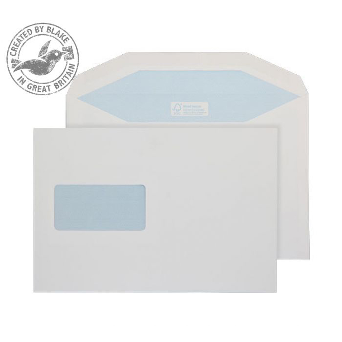 Purely Everyday Mailer Gummed Window White 115gsm C5+ 162x238mm Ref 4908 Pk 500 10 Day Leadtime