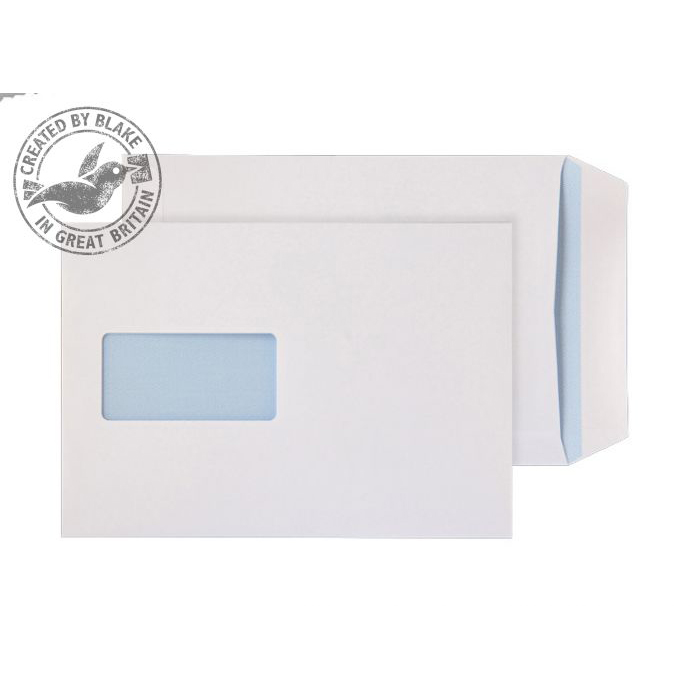 Purely Everyday Pocket Self Seal Window White 110gsm C5 229x162mm Ref 8894 Pk 500 *10 Day Leadtime*