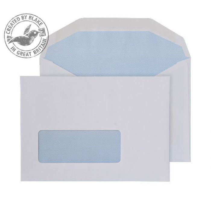 Blake Purely Everyday C6 Mailing Wallet Gummed Window 80gsm White Ref 2601 Pack1000 *3to5 Day Leadtime*