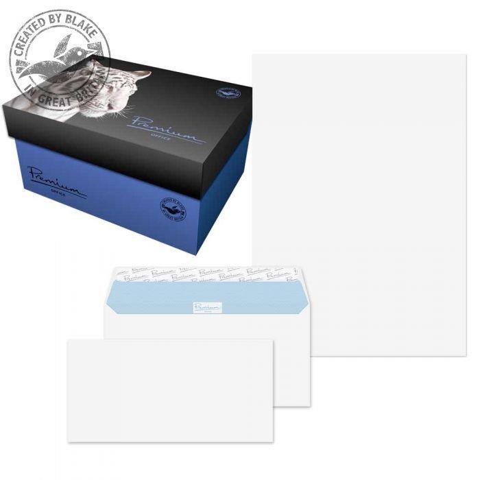DL Blake Soho Ultra White Wove A4 Paper & WalletP&S DL envelopes 120gsm Pk250/50 34670 *10 Day Leadtime*