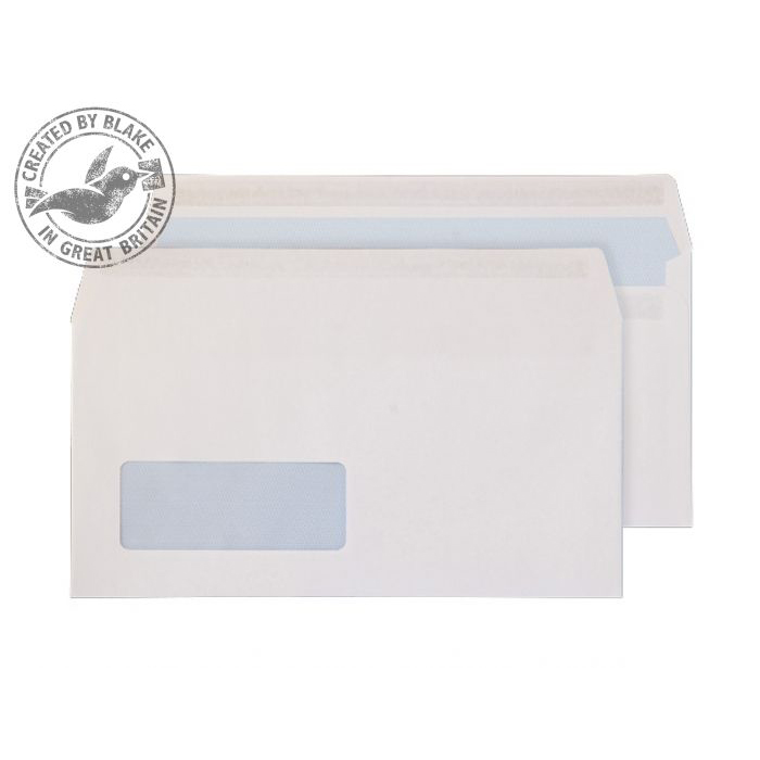 Purely Everyday Wallet Self Seal Low Wndw White 100gsm DL Ref 6633FU Pk500 *10 Day Leadtime*