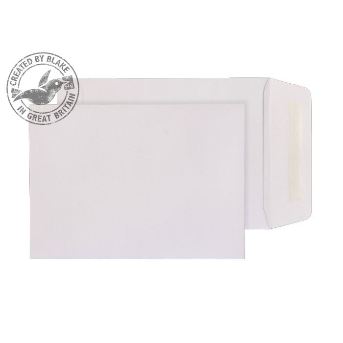 Purely Everyday Pocket Gummed White 90gsm 190x127mm Ref 2225 [Pack 500] 10 Day Leadtime