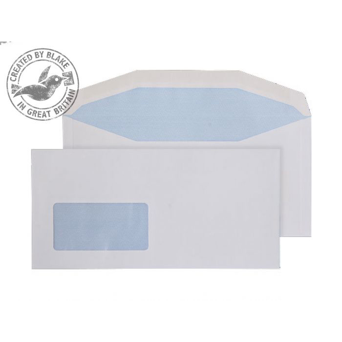 Purely Everyday Mailer Gummed Low Window White 90gsm DL+ 114x235 Ref 3904 Pk1000 10 Day Leadtime