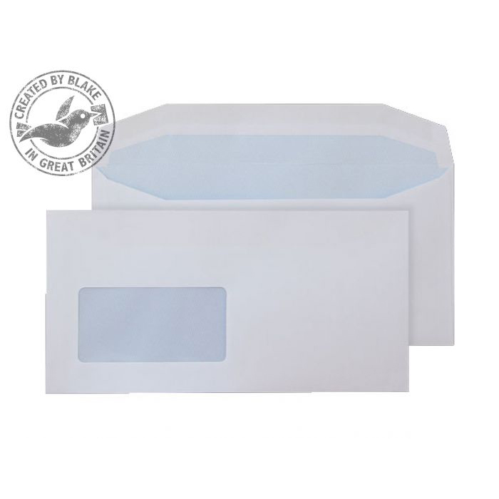Purely Everyday Mailer Gum CBC Wndw White 90gsm DL 110x220 Ref 112204CBC Pk1000 *10 Day Leadtime*