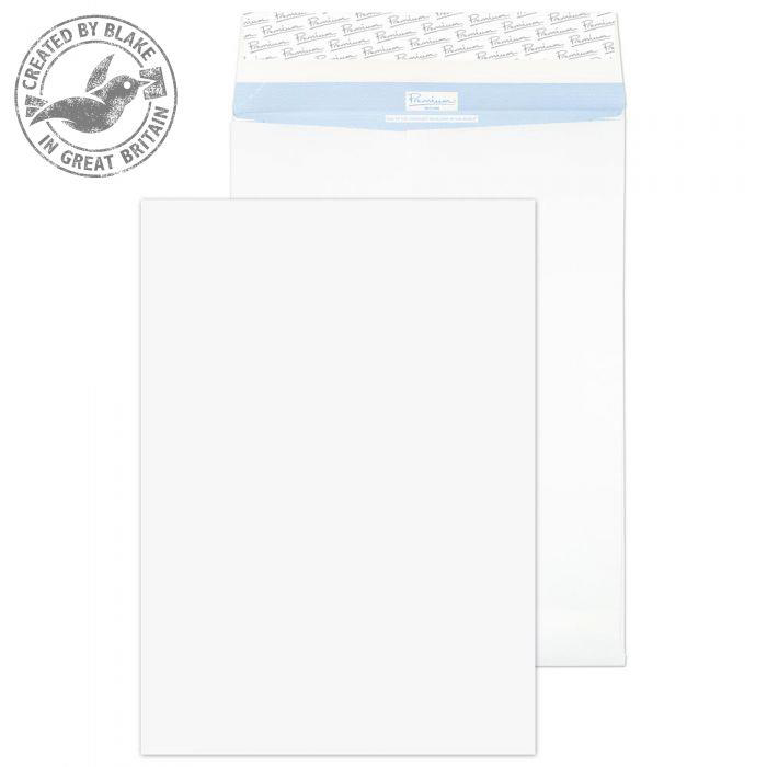 Blake Premium Secure Pocket P&S White 352X250X25mm 125gsm Ref TR44071 Pack 20 *10 Day Leadtime*