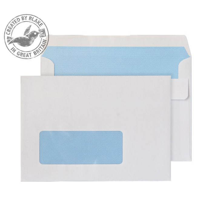 C6 Purely Everyday Wallet Self Seal Window White 90gsm C6 114x162 Ref 2603W Pk 1000 *10 Day Leadtime*