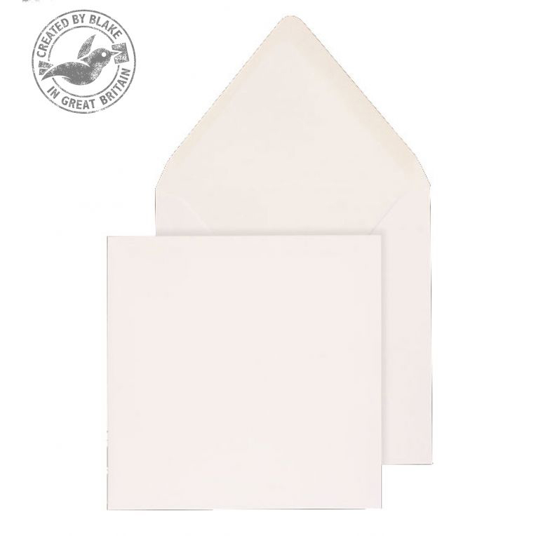 Purely Everyday Square Banker Invit Gum White 100gsm 159x159 Ref ENV03500 Pk500 10 Day Leadtime