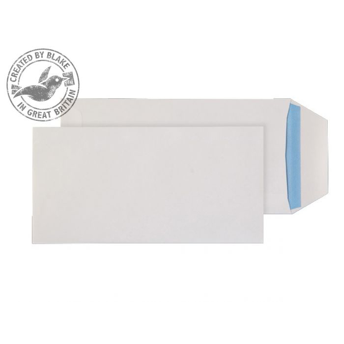 Purely Everyday Pocket Self Seal White 100gsm DL+ 235x121mm Ref 8888 [Pack 500] 10 Day Leadtime