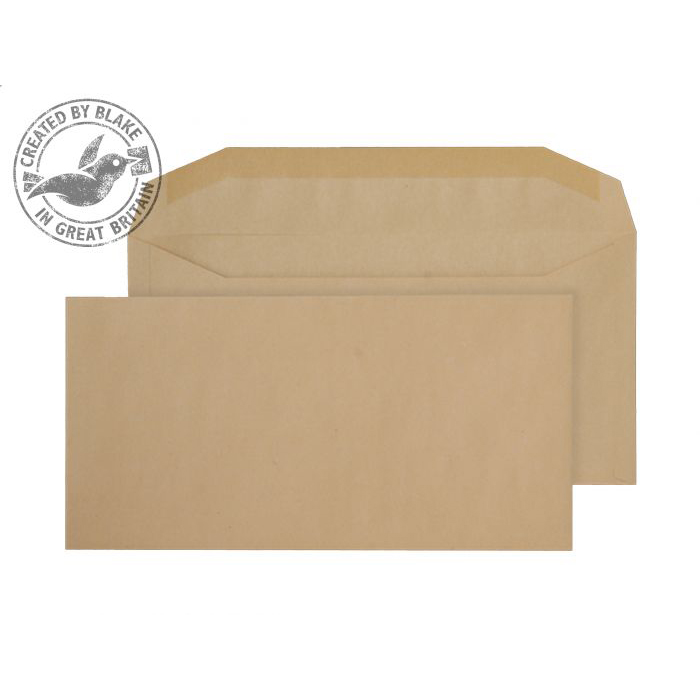 Purely Everyday Mailer Gummed Manilla 80gsm DL+ 121x235mm Ref 1004 [Pack 1000] 10 Day Leadtime