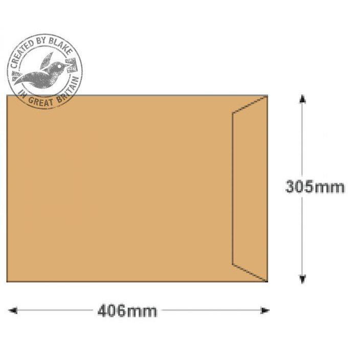 Purely Everyday Manilla Gummed Pocket 406x305mm Ref 12871 [Pack 250] 10 Day Leadtime