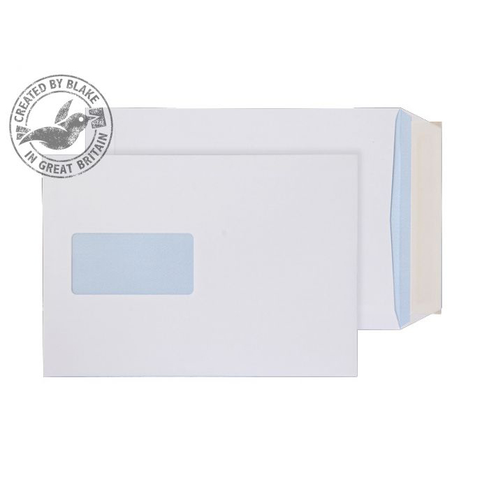 Purely Everyday Pocket P&S Window White 100gsm C5 229x162mm Ref 23084 [Pack 500] 10 Day Leadtime