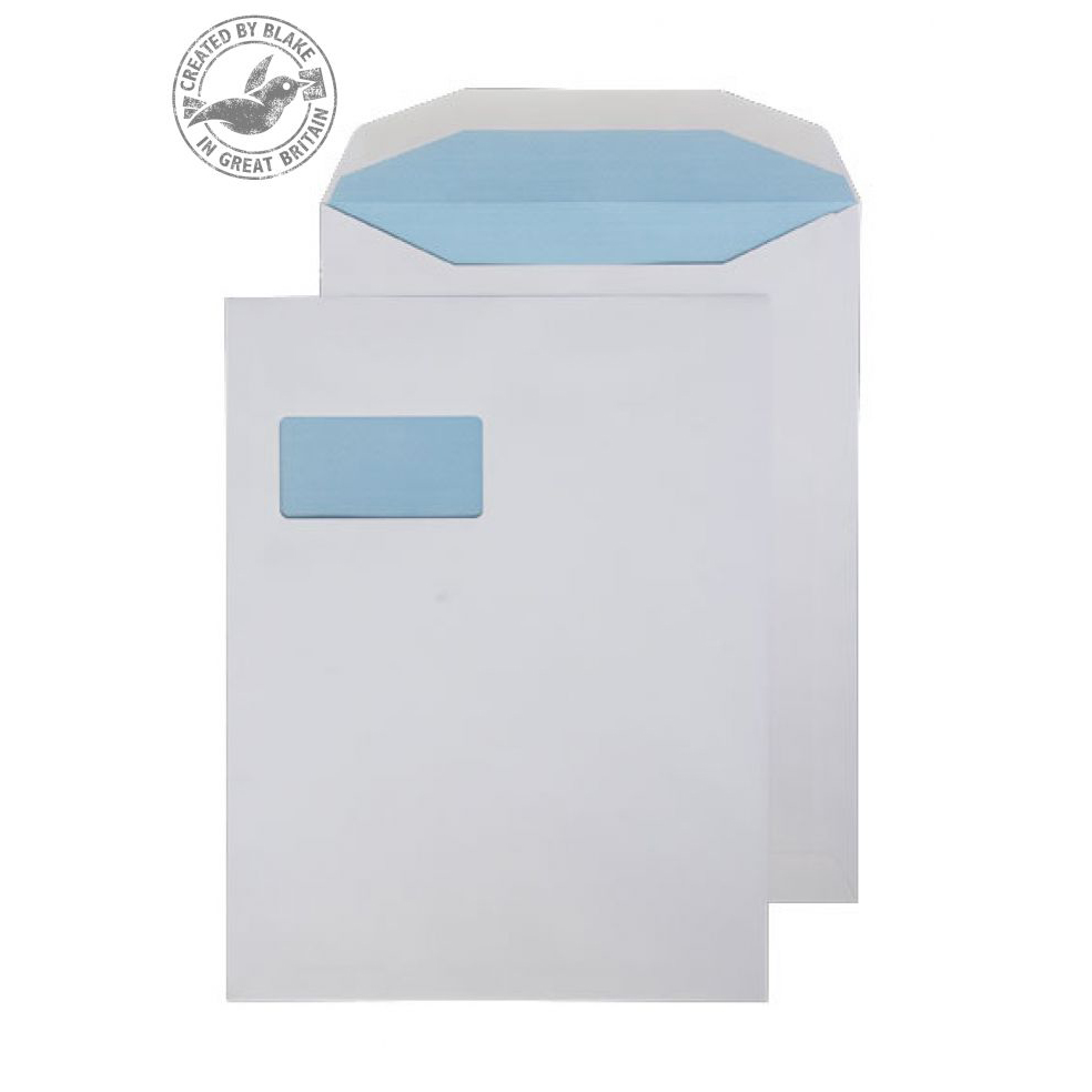 Wage Envelopes Purely Everyday Mailer Gummed High Window White 100gsm 310x238mm Ref SI-90 Pk 250 *10 Day Leadtime*