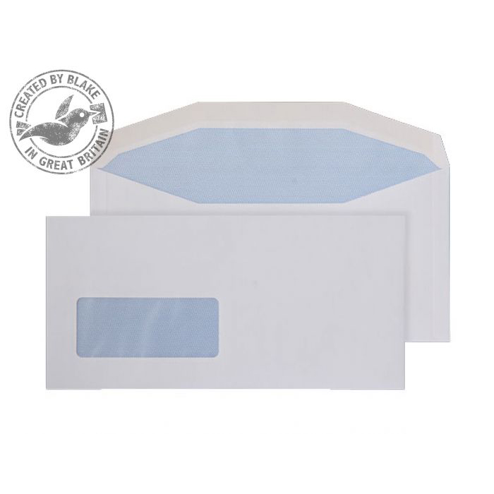 DL Purely Everyday Mailer Gummed Low Window White 90gsm DL+ 114x235 Ref 3909 Pk1000 *10 Day Leadtime*