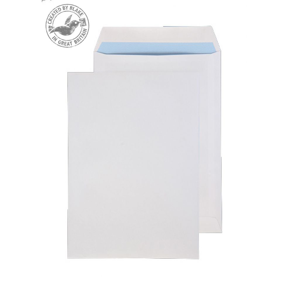 Purely Everyday Pocket Self Seal White 100gsm 270x216mm Ref 9086 [Pack 250] 10 Day Leadtime