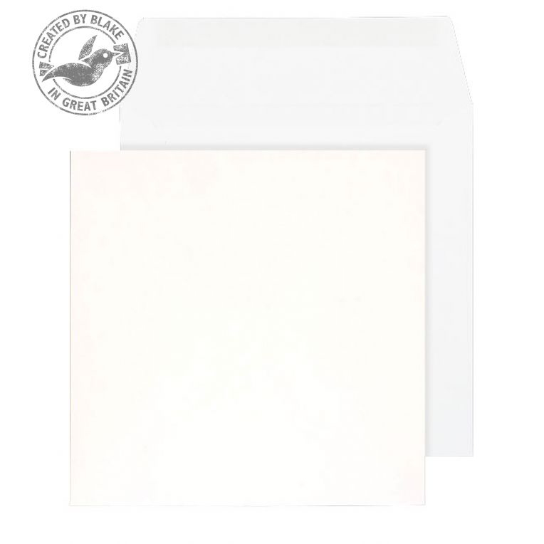 Purely Everyday Square Wallet Gummed White 100gsm 140x140mm Ref 0140SQ [Pack 500] *10 Day Leadtime*