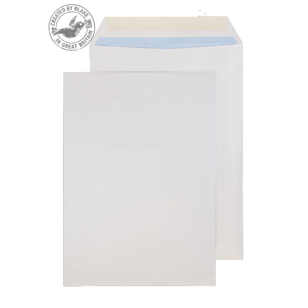 Purely Everyday White Gummed Pocket B4 352x250mm Ref 1784 [Pack 250] 10 Day Leadtime