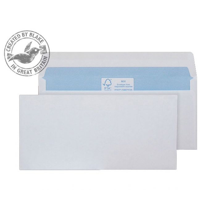 Purely Environmental Mailer Gummed White 90gsm DL 110x220mm Ref FSC275 Pk 1000 10 Day Leadtime