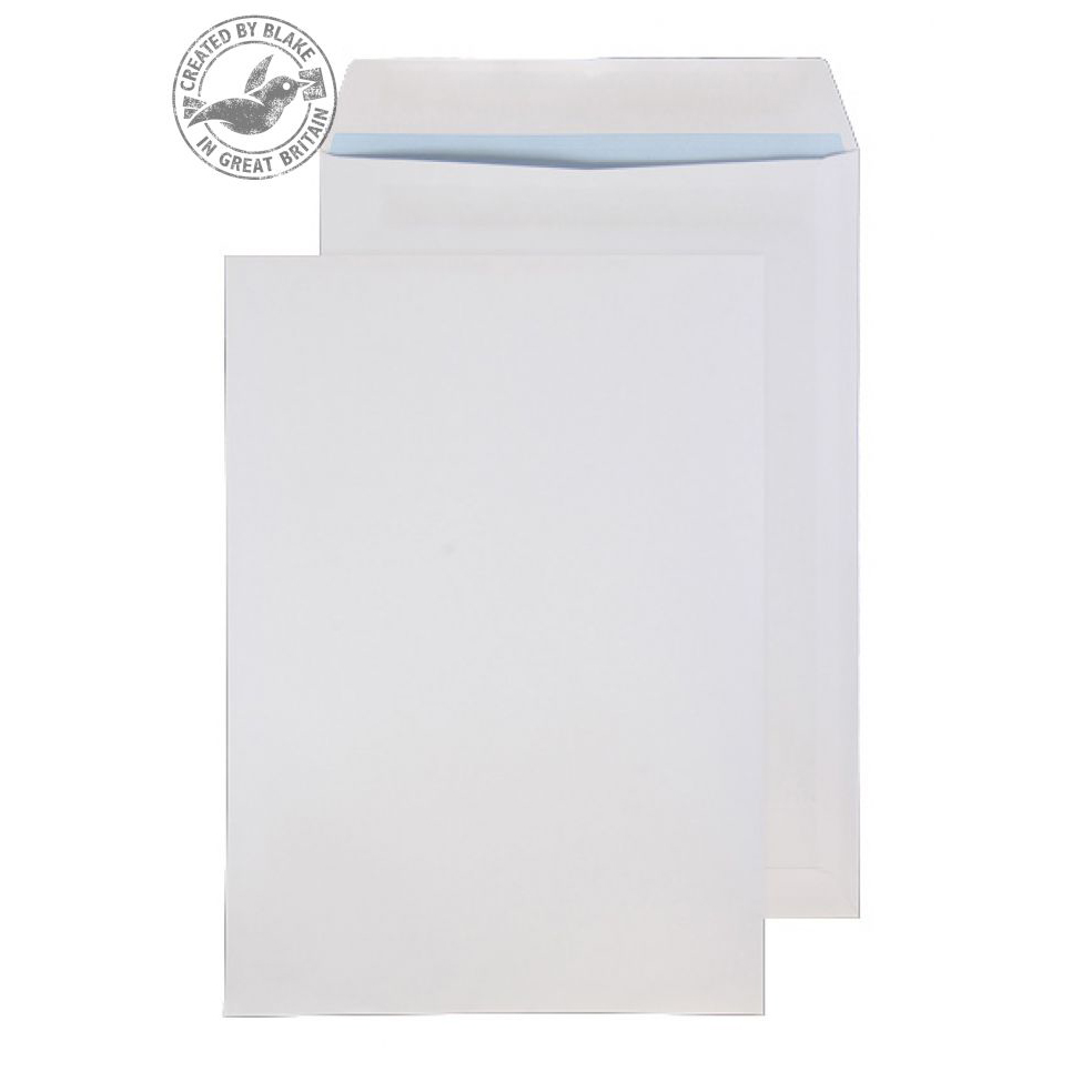 Purely Everyday White Self Seal Pocket B4 352x250mm Ref 11060 [Pack 250] 10 Day Leadtime