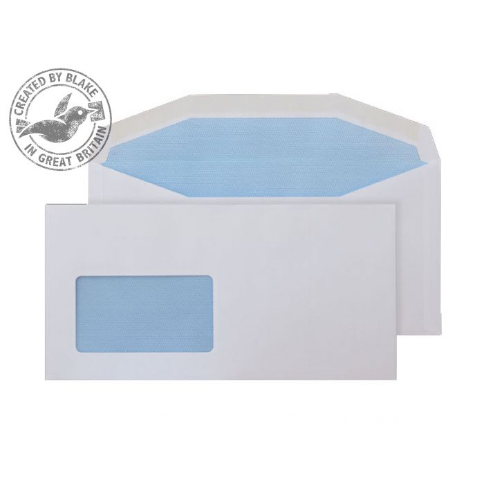 Purely Everyday Mailer Gummd CBC Wndw White 90gsm DL+ 114x229 Ref 3804CBC Pk1000 *10 Day Leadtime*