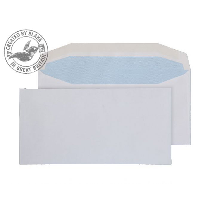 Purely Everyday Mailer Gummed White 110gsm DL 110x220mm Ref 8701 [Pack 1000] 10 Day Leadtime