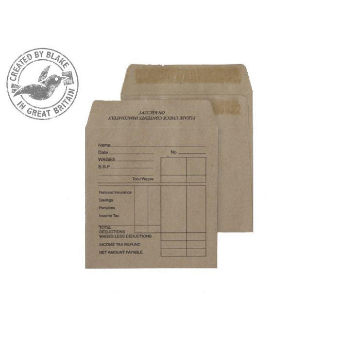 Purely Everyday Pocket Self Seal Manilla 80gsm 108x102mm Ref 1933PTD [Pack 1000] 10 Day Leadtime
