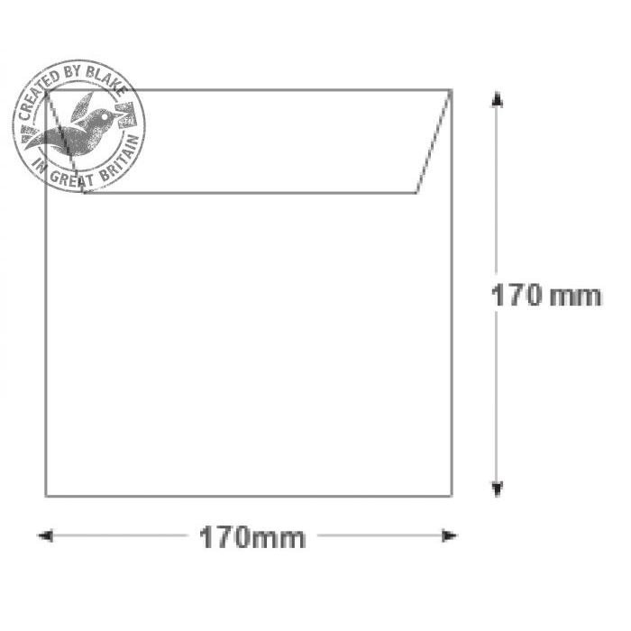 Purely Everyday Square Wallet Gummed White 100gsm 170x170mm Ref 0170SQ [Pack 500] 10 Day Leadtime