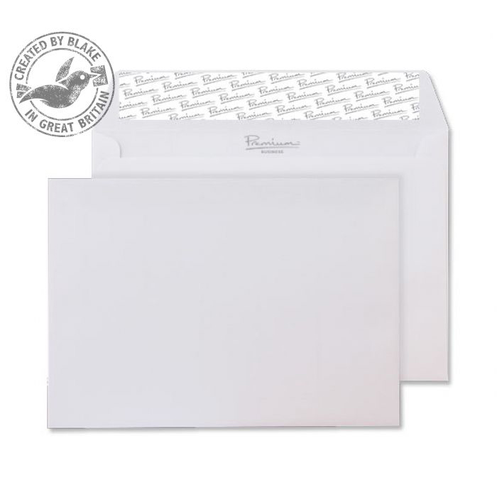C6 Blake Premium Business Wallet P&S Ice White Wove C6 120gsm Ref 21882 Pk500 *10 Day Leadtime*