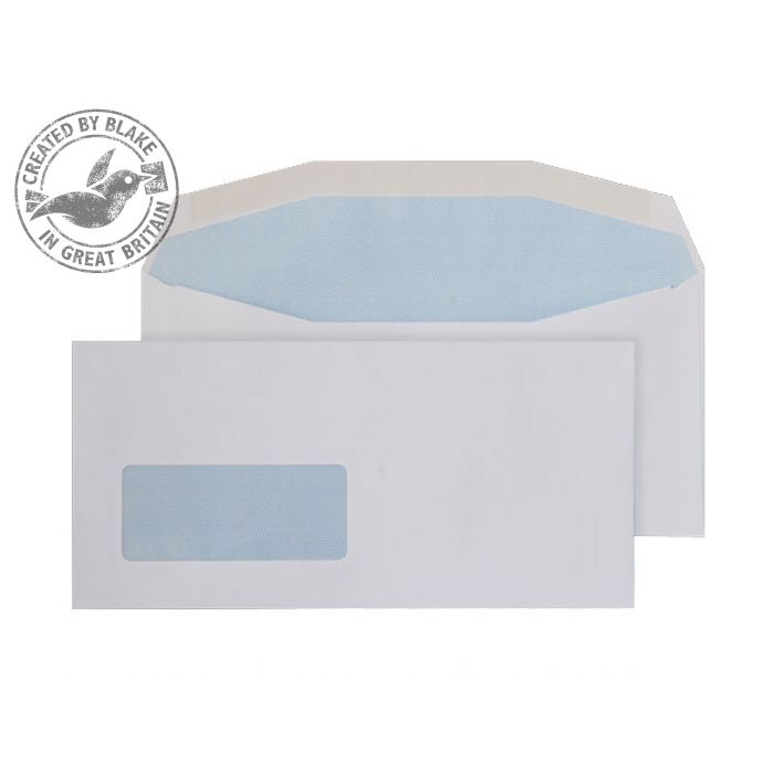 Purely Everyday Mailer Gummed Window White 90gsm DL+ 111x232mm Ref 3705 Pk 1000 10 Day Leadtime