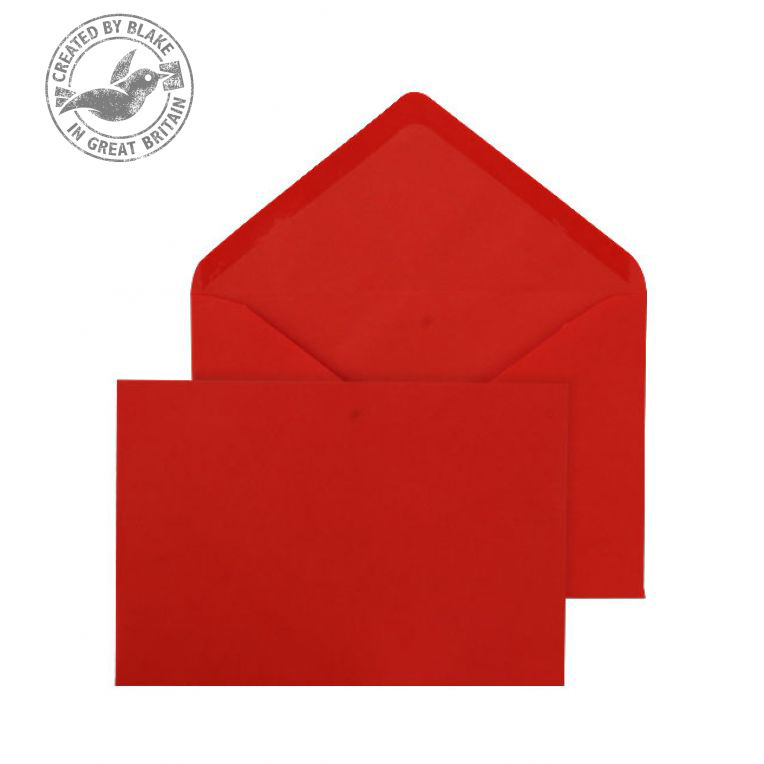 Blake Purely 133x185mm Banker Invitation Gummed 100gsm Red Ref ENV2605 [Pack 500] 3to5 Day Leadtime