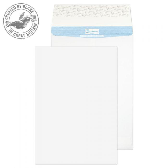 Blake Premium Secure Pocket P&S White 381X254X25mm 125gsm Ref TR13302 [Pack 20] *10 Day Leadtime*