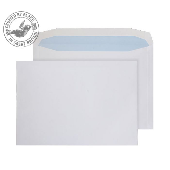 Purely Everyday White Gummed Mailing Wallet C4+ 240x330mm Ref 9709 [Pack 250] 10 Day Leadtime