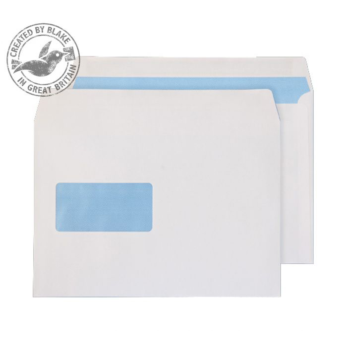 Purely Everyday Wallet Self Seal Window White 100gsm C5 162x229 Ref 6655FU Pk 500 10 Day Leadtime