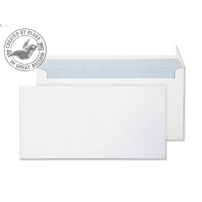 Purely Everyday Wallet P&S Ultra White 120gsm DL 110x220mm Ref 34882 [Pack 500] 10 Day Leadtime