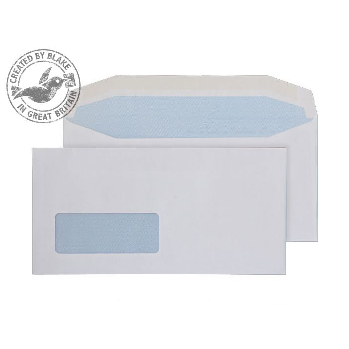 Purely Everyday Mailer Gummed Low Window White 110gsm DL 110x220 Ref 8702 Pk1000 *10 Day Leadtime*