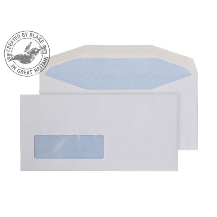 Purely Everyday Mailer Gummed Window White 90gsm DL+ 114x235 Ref 3998LW Pk 1000 10 Day Leadtime