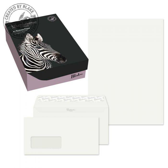 Blake Soho Oyster Wove A4 Paper & Wallet P&S DL envelopes 120gsm Pk250/50 71670 *10 Day Leadtime*
