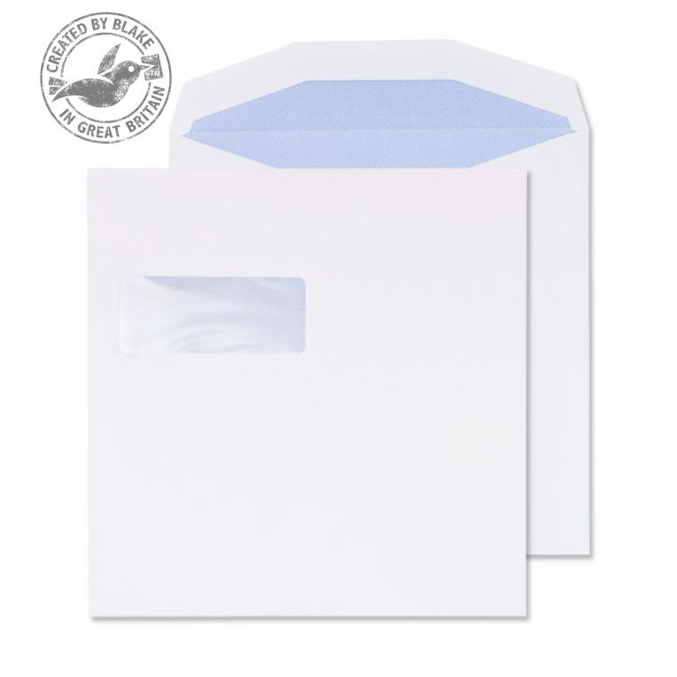 Purely Everyday Mailer Gummed High Window White 100gsm 220x220mm Ref 5708 Pk 500 *10 Day Leadtime*