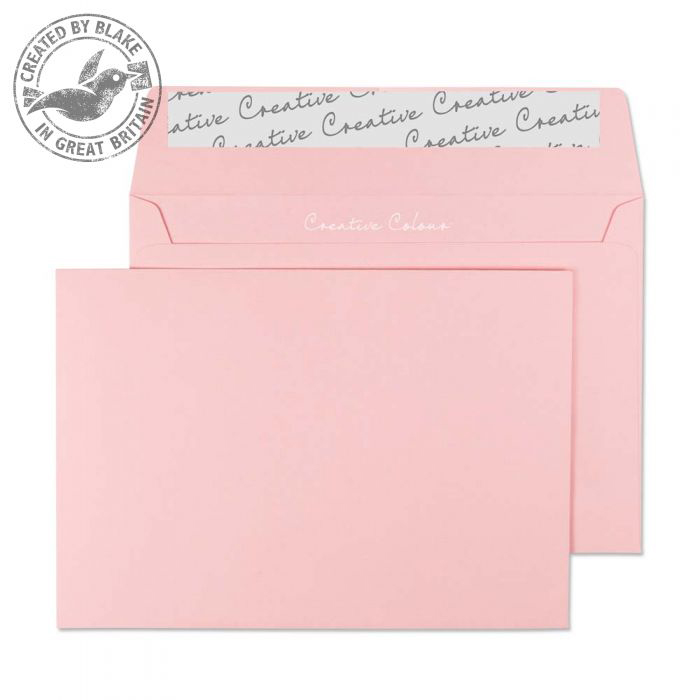Creative Colour Baby Pink Peel and Seal Wallet C6 114x162mm Ref 101 [Pack 500] *10 Day Leadtime*