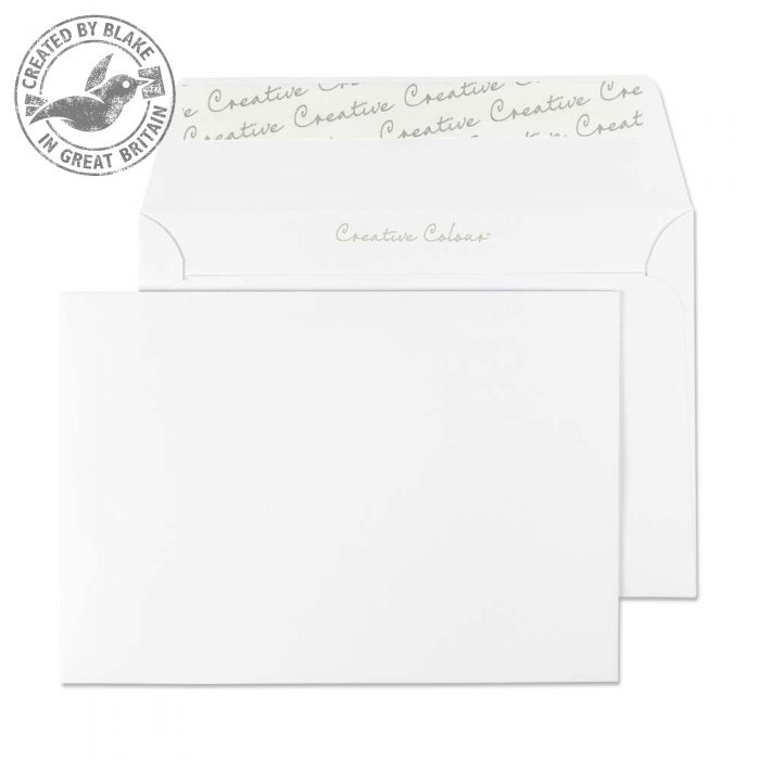 Creative Colour Wallet P&S Ice White 120gsm C6 114x162mm Ref 150 [Pack 500] 10 Day Leadtime