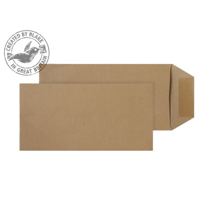 Purely Everyday Pocket Gummed Manilla 80gsm DL+ 235x121mm Ref 8008 [Pack 1000] *10 Day Leadtime*