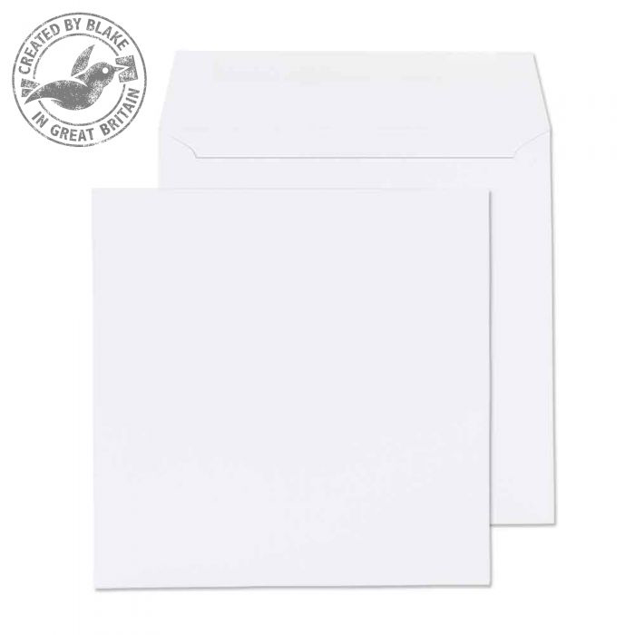 Purely Everyday Square Wallet Gummed White 100gsm 190x190mm Ref 0190SQ [Pack 500] *10 Day Leadtime*