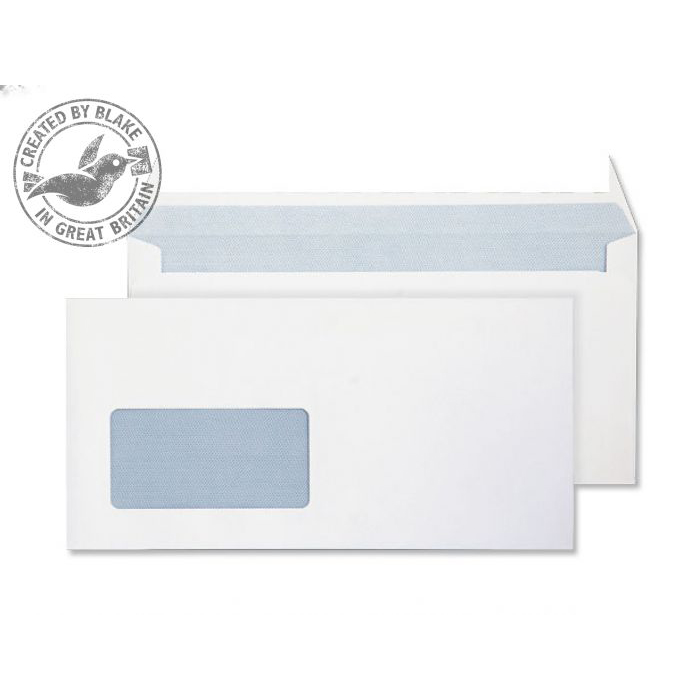 Purely Everyday Wallet P&S Window Ultra White 120gsm DL 110x220 Ref 34884 Pk 500 *10 Day Leadtime*